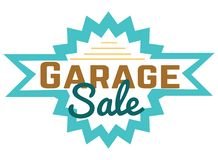 Free Garage Sale Sign Advertising Deals. Logotypes Template With Total Sale Vector Illustration. Special Offer And Sell-out Stock Photos - 140366683