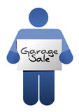 Garage sale sign illustration design Stock Photos