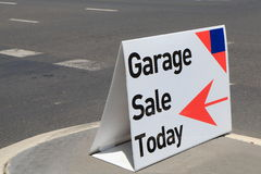 Garage sale. Sign on street Stock Photography