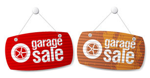 Garage for sale signs. Royalty Free Stock Photography