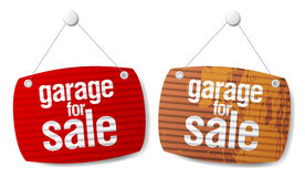 Garage for sale signs Stock Image