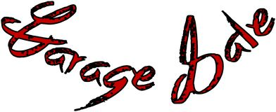 Garage sale text sign illustration stock illustration