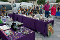 Garage sales Chartres Royalty Free Stock Photo