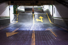 Garage. Sao Paulo, Brazil - December 02, 2014: Entrance parking garage, in downtown Sao Paulo, Brazil royalty free stock photography