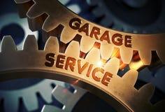 Garage Service Concept. Golden Gears. 3D Illustration. Stock Photo
