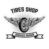 Garage. Service station. Car repair. Design element for logo, label, emblem, sign. Vector illustration Stock Photos