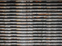 Garage shutter. Close-up of a house old garage shutter Royalty Free Stock Image