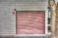 Garage shutter Royalty Free Stock Photos