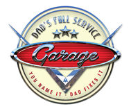 Garage Sign Chrome Royalty Free Stock Image