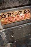 Garage sign Royalty Free Stock Image