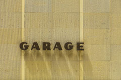 Garage sign with shadow of letters Royalty Free Stock Photography