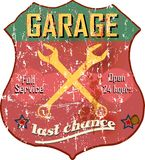 Garage sign vector illustration