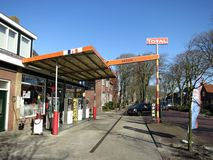 Garage in a small village in Holland. Car Repair Shop in a small village in The Netherlands Stock Image