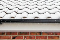 Garage in the snow Royalty Free Stock Photo