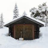 Garage in Sweden Stock Photo