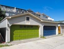 Garage-Türen Lizenzfreies Stockbild