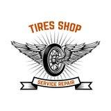 garage Tjänste- station Bilreparation Planlägg beståndsdelen för logoen, etiketten, emblemet, tecken royaltyfri illustrationer
