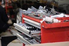 Garage tool box Stock Image
