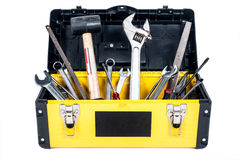 Garage tool box workisolated. Garage tool box work in isolated Royalty Free Stock Photography