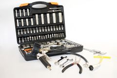 Garage tools. Tools for car repair and maintenance Royalty Free Stock Photos