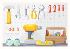 Garage tools layout Stock Photos