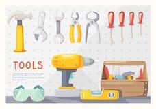 Garage tools layout Stock Photos