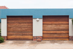 Garage Two Doors Royalty Free Stock Photography