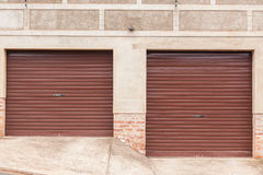 Garage Two Doors Royalty Free Stock Image