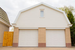 Garage with two doors Royalty Free Stock Photography