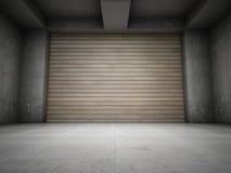 Garage vide illustration de vecteur