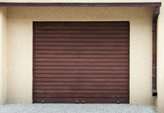 Garage wall with door Royalty Free Stock Photo