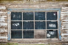 Garage Windows In Rural America Stock Photography