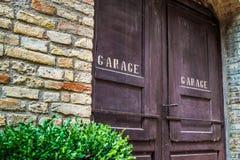 Garage wooden door Stock Photography