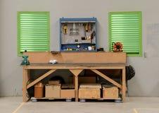 Garage workshop royalty free stock images