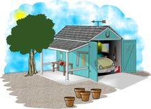 Garage y taller ilustración del vector