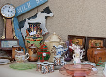 Garage yard estate sale display space for sign Stock Images