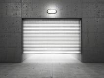 Garagebyggnad som göras av betong Arkivfoton