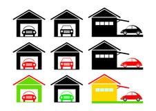 Garageikonen Lizenzfreie Stockbilder