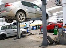 Garagem automotriz do serviço
