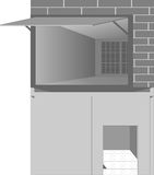 A garagem com as portas abre Imagem de Stock Royalty Free