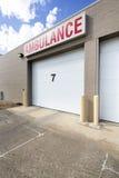Garagem de estacionamento do hospital com número sete imagem de stock