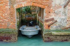 Garagem do barco fotografia de stock royalty free