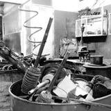 Garagem do mecânico foto de stock