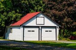 Garagem dobro Fotografia de Stock