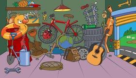Garagem dos desenhos animados Imagens de Stock