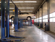Garagem dos mecânicos Fotografia de Stock