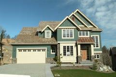 Garagem Home da casa do desenhador Fotos de Stock Royalty Free