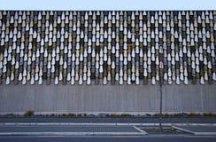 Garagem moderna do parque de estacionamento de arredores de justiça e do serviço de urgências de Christchurch, Nova Zelândia Insp fotografia de stock