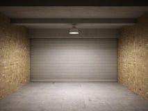 Garagem vazia Fotografia de Stock Royalty Free