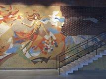 Garagemuseum van Eigentijdse Kunst in Gorkiy-Park, Moskou royalty-vrije stock fotografie